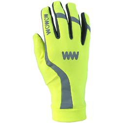 Odblaskowe rękawiczki rowerowe WOWOW Dark Gloves 3.0 - fluorescencyjny żółty