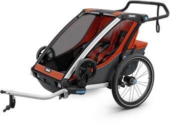 Podwójna przyczepka dla dzieci Thule Chariot Cross 2 + zestaw do joggingu