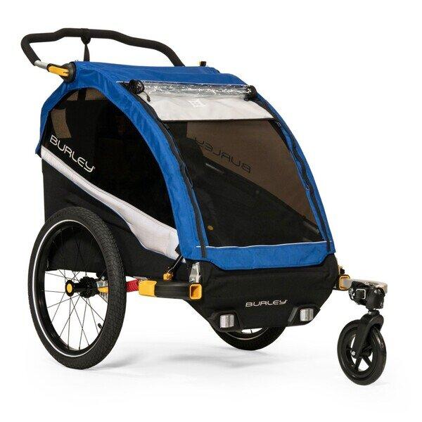 Przyczepka rowerowa dla dzieci Burley D'Lite Old School Blue