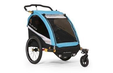 Przyczepka rowerowa dla dzieci D'lite x Single AQUA