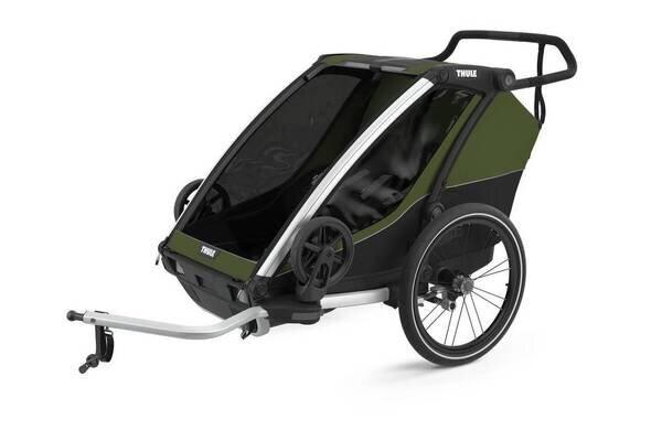Przyczepka rowerowa dla dziecka THULE Chariot Cab 2 Cypress Green