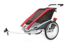 Przyczepka rowerowa Thule Chariot Cougar 2 czerwony + CTS rower