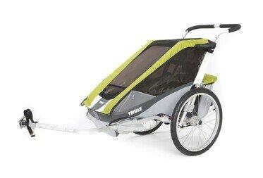 Przyczepka rowerowa Thule Chariot Cougar 2 zielony + CTS rower