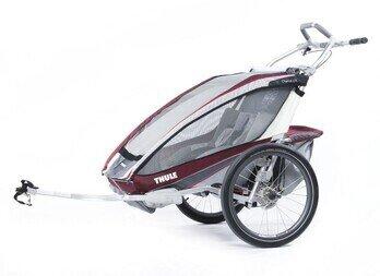 Przyczepka rowerowa Thule Chariot CX2 czerwona + CTS rower
