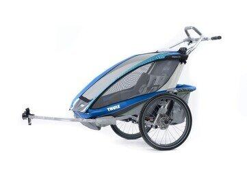 Przyczepka rowerowa Thule Chariot CX2 Niebieska + CTS rower