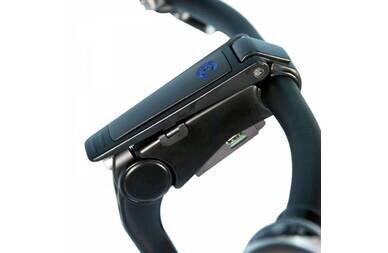 Regulowany wspornik kierownicy Cortina Blau z USB