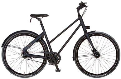 Rower miejski Cortina Blau na pasku zębatym
