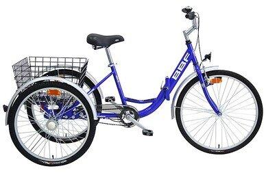 Rower trójkołowy BBF Folding Trike niebieski 24/26