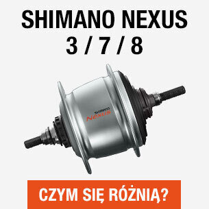 Różnice między piastami Shimano Nexus 3, 7 i 8
