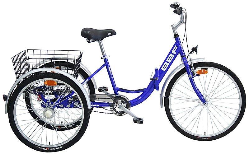 Składany rower trójkołowy BBF Folding Trike niebieski 24/26