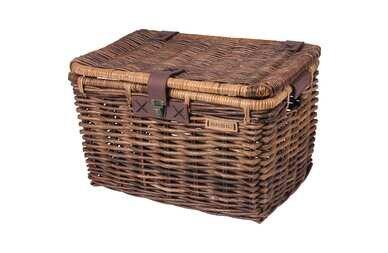 Wiklinowy koszyk rowerowy Basil Denton brązowy