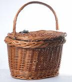 Zamykany wiklinowy koszyk rowerowy Basil Denver