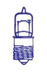 Żarówka halogenowa nakręcana 6V 3W