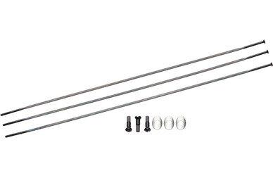 Zestaw 3 szprych typu Straight Pull wraz z kompletem nypli oraz podkładek Zipp CX Ray – kolor czarny