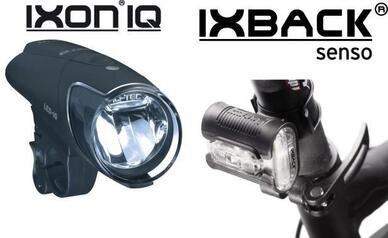Zestaw lampek Busch & Muller IXON-IQ + IX-BACK SENSO