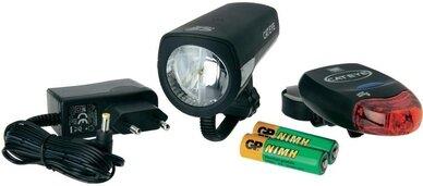 Zestaw lampek CATEYE HL-EL340G + TL-LD260G / ładowarka, Aku NiMH