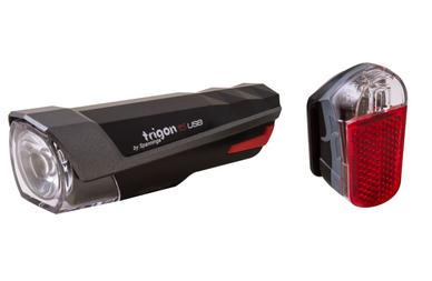 Zestaw lampek Spanninga Trigon 15 USB + Spanninga Pyro USB