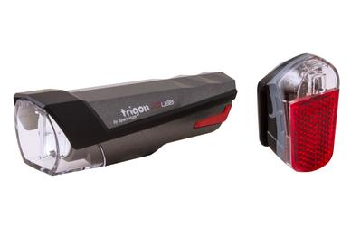 Zestaw lampek Spanninga Trigon 25 USB + Spanninga Pyro USB