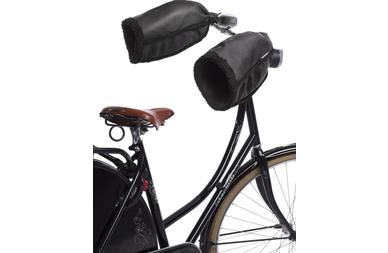 Zimowe pokrowce rowerowe na kierownicę Basil Hand Warmers Czarne